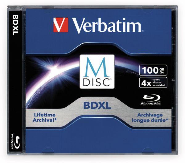M-Disc VERBATIM BD-R, 100 GB, 1 Stück, Blau-weiß Oberfläche - Produktbild 2