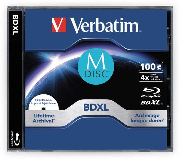 M-Disc VERBATIM BD-R, 100 GB, 5 Stück, Bedruckbar - Produktbild 2