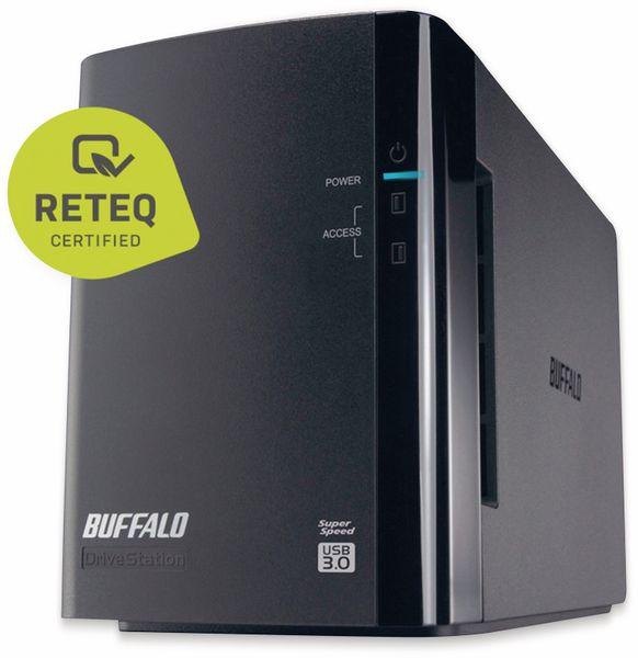 Festplattengehäuse BUFFALO DriveStation Duo D-W1.0T1U2/R1, 4 TB, Refurbished