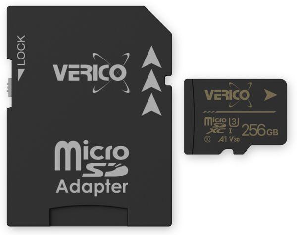 microSDXC Speicherkarte VERICO, 256 GB, Class 10, UHS-I, mit Adapter
