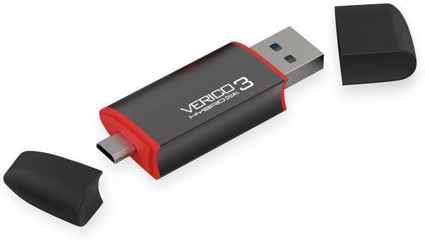 USB3.0 Stick VERICO Hybrid OTG, 128 GB, schwarz