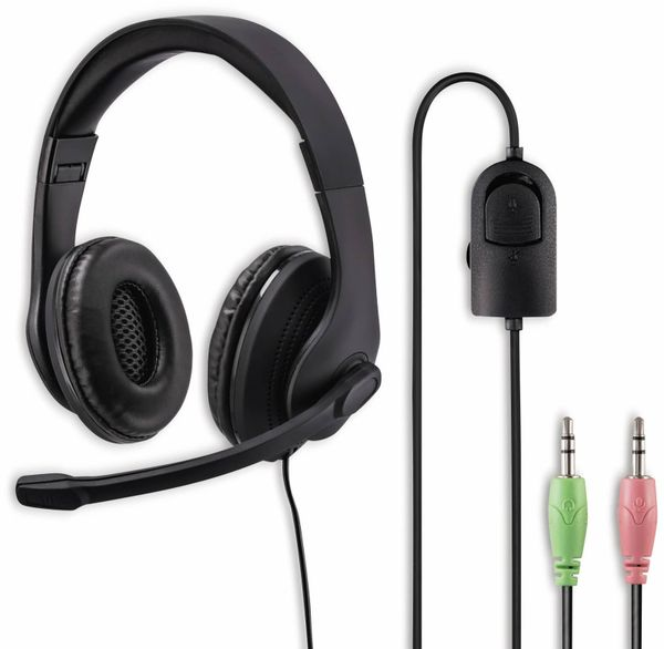 Headset HAMA HS-P200, Stereo, schwarz