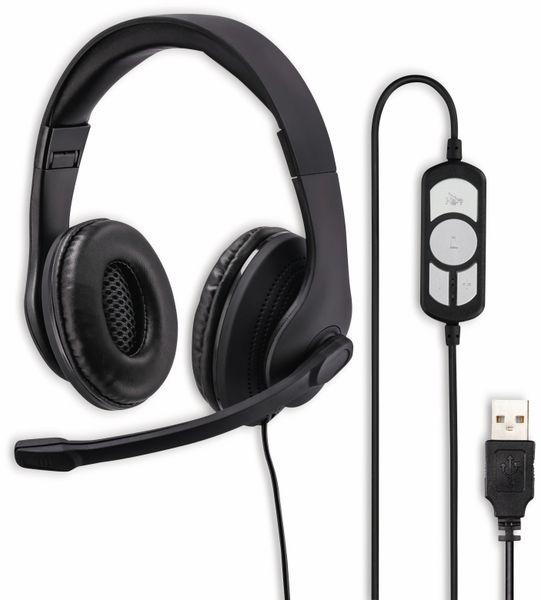 Headset HAMA HS-USB300, Stereo, schwarz
