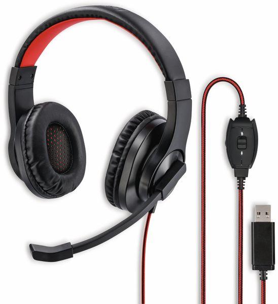 USB-Headset HAMA HS-USB400, Stereo, schwarz