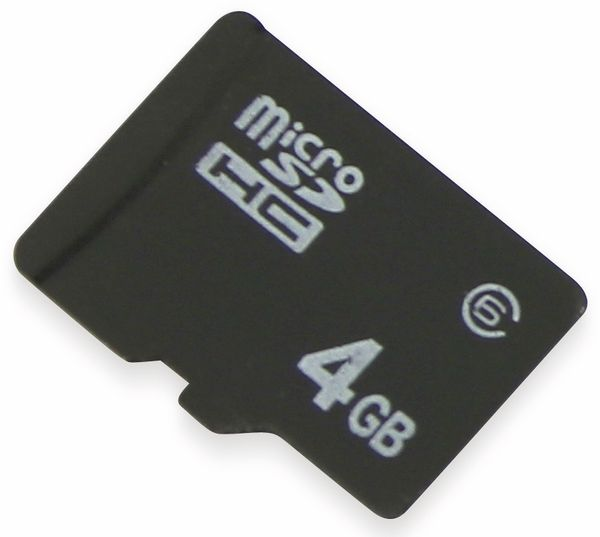 microSDHC Speicherkarte, 4 GB, Class 6