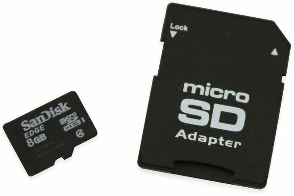 microSDHC Speicherkarte, 8 GB, SanDisk, Class 4, mit Adapter