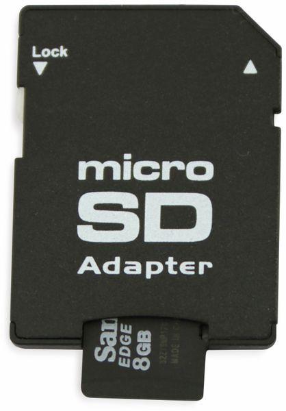 microSDHC Speicherkarte, 8 GB, SanDisk, Class 4, mit Adapter - Produktbild 3