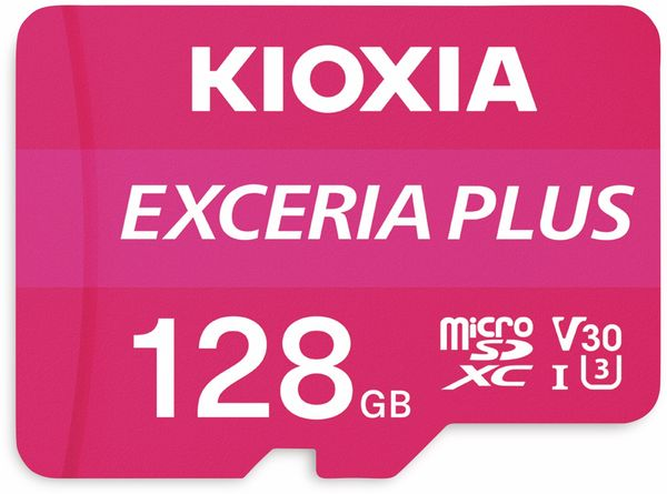 MicroSD-Card KIOXIA Exceria Plus, 128 GB, Class 10, UHS-I
