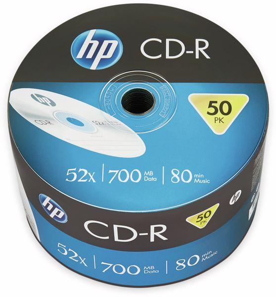 CD-R HP 80Min, 700MB, 52x, Bulk Pack, 50 CDs, Silver Surface