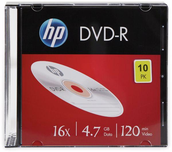 DVD-R HP 4.7GB, 120Min, 16x, Slimcase, 10 CDs