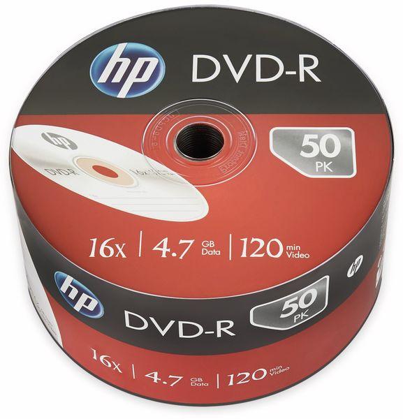 DVD-R HP 4.7GB, 120Min, 16x, Bulk-Pack, 50 CDs