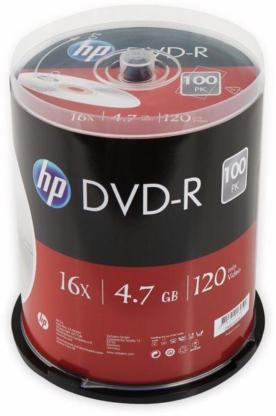 DVD-R HP 4.7GB, 120Min, 16x, Cakebox, 100 CDs
