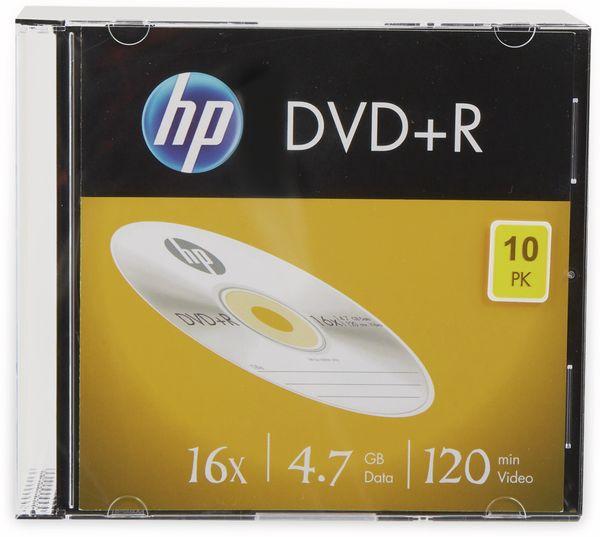 DVD+R HP 4.7GB, 120Min, 16x, Slimcase, 10 CDs
