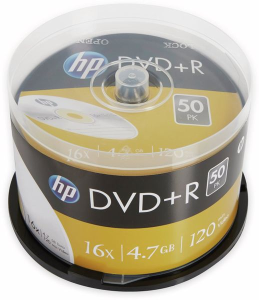 DVD+R HP 4.7GB, 120Min, 16x, Cakebox, 50 CDs