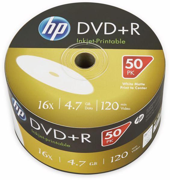 DVD+R HP 4.7GB, 120Min, 16x, Bulk-Pack, 50 CDs bedruckbar