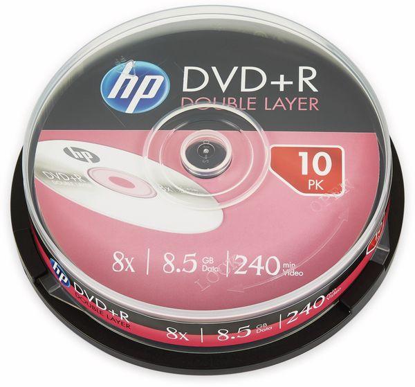 DVD+R DL HP 8,5GB, 240Min, 8x, Cakebox, 10 CDs