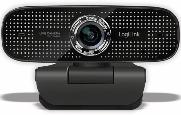 Webcam LOGILINK LL1, 1920x1080, 30fps, schwarz - Produktbild 2