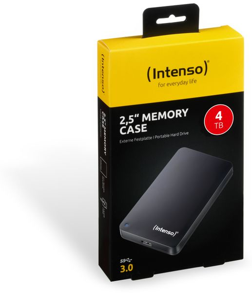 "USB 3.0-HDD INTENSO Memory Case, 320 GB, 2,5"", schwarz - Produktbild 2"