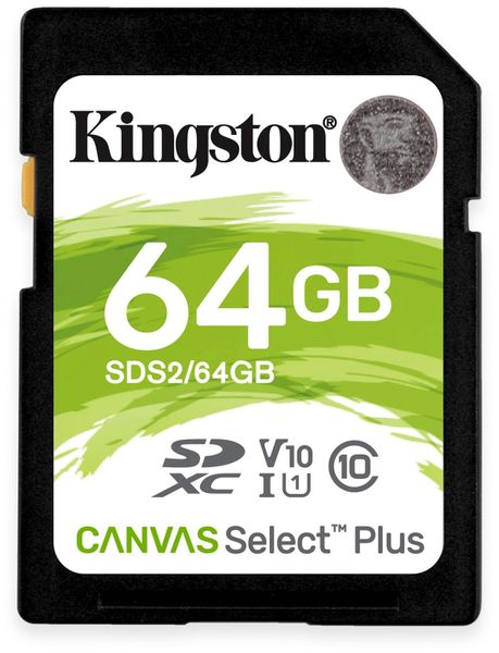 SD-Card KINGSTON Canvas Select Plus, 64GB