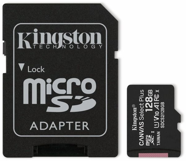 MicroSD-Card KINGSTON Canvas Select Plus, 128 GB
