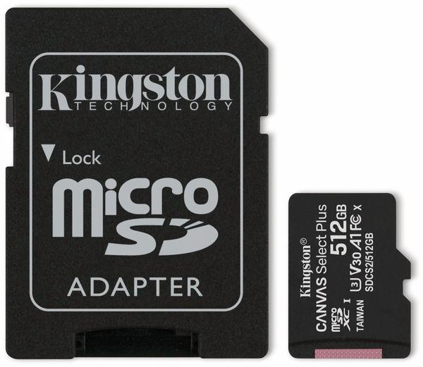 MicroSD-Card KINGSTON Canvas Select Plus, 512 GB