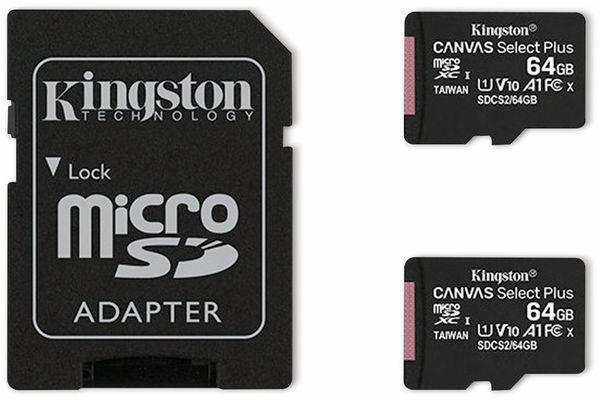 MicroSD-Card KINGSTON Canvas Select, Plus, 64GB, 2er Pack