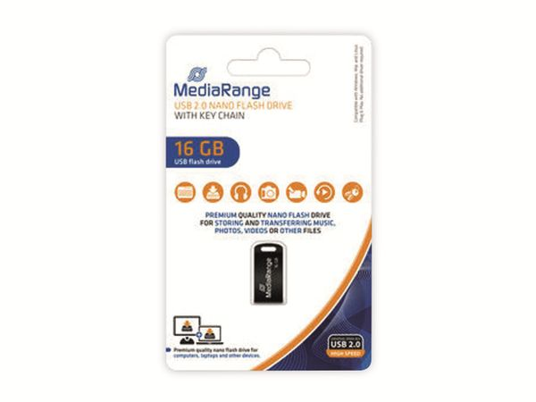 USB-Stick MEDIARANGE MR921, Nano, USB 2.0, 16 GB