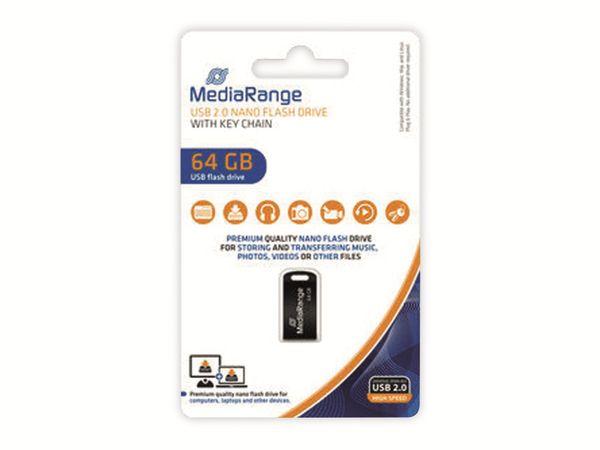 USB-Stick MEDIARANGE MR923, Nano, USB 2.0, 64 GB