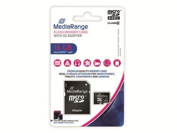 MicroSD-Card MEDIARANGE, Class 10, 16 GB