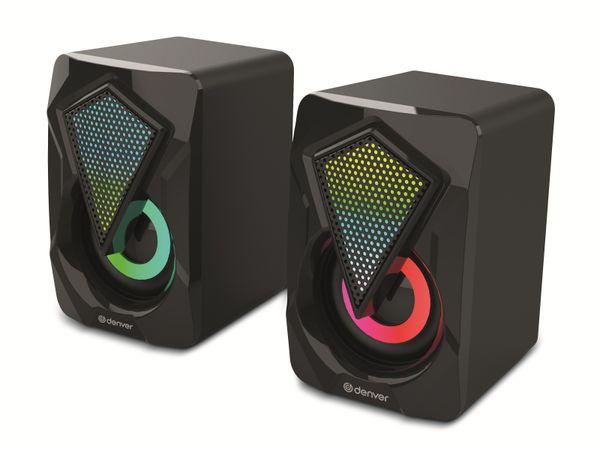 Gaming-Lautsprecher DENVER GAS-500, 2x 3 W, mit Lichtfunktion
