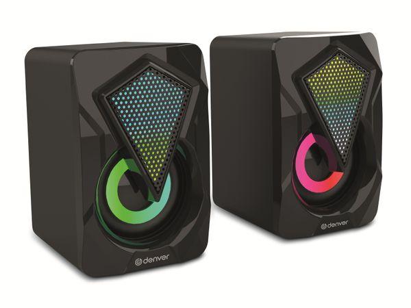 Gaming-Lautsprecher DENVER GAS-500, 2x 3 W, mit Lichtfunktion - Produktbild 2