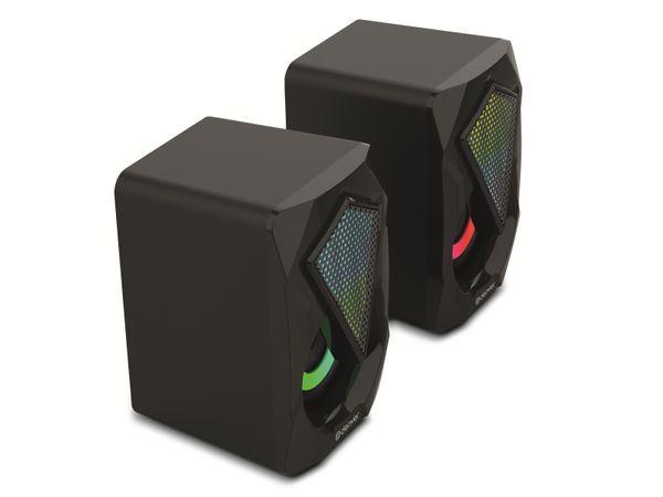 Gaming-Lautsprecher DENVER GAS-500, 2x 3 W, mit Lichtfunktion - Produktbild 3