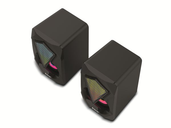 Gaming-Lautsprecher DENVER GAS-500, 2x 3 W, mit Lichtfunktion - Produktbild 4