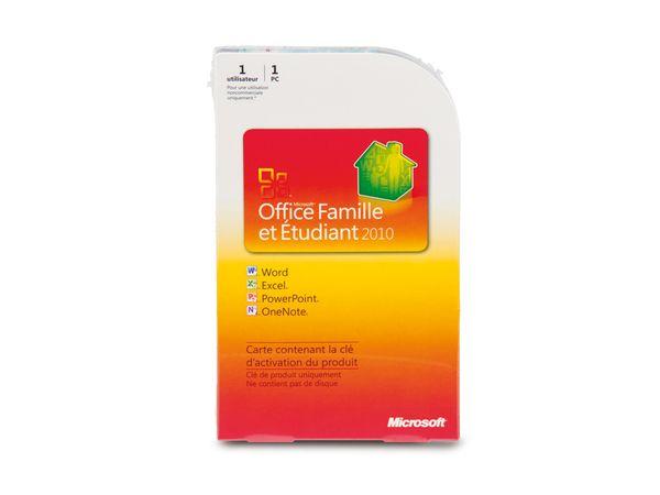 Microsoft Office Home and Student 2010, Key Card, französisch - Produktbild 1