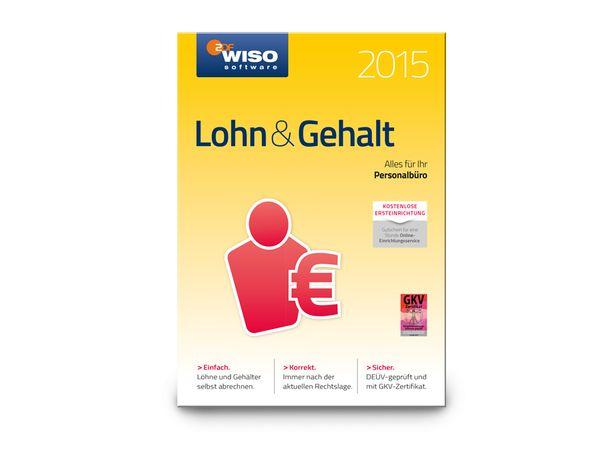 Software WISO Lohn & Gehalt 2015 für Windows, 1 Lizenz, 365 Tage