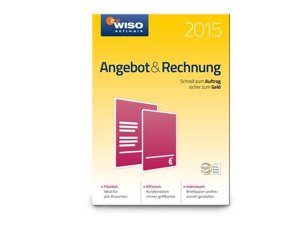 Software WISO Angebot & Rechnung 2015 für Windows, 1 Lizenz, 365 Tage - Produktbild 1