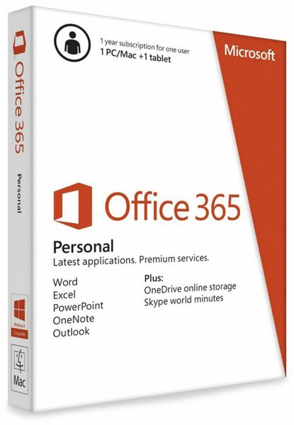 MICROSOFT Office 365 Personal, 1 User