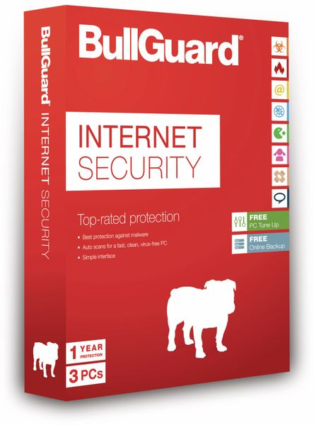 BULLGUARD Internet Security BG1411, 1 Jahr, 3 PC - Produktbild 1