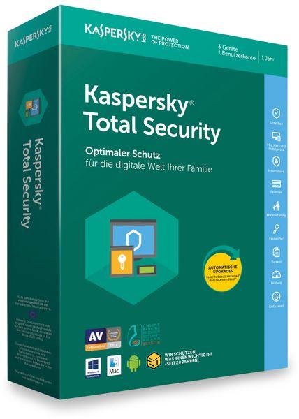 Kaspersky Total Security 2018, 3 Geräte, 1 Jahr