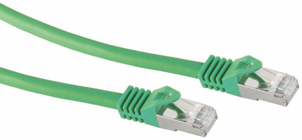 RJ45 Patchkabel S/FTP (PIMF), m. CAT.7 Rohkabel, 0,25 m