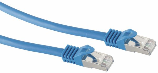 RJ45 Patchkabel S/FTP (PIMF), m. CAT.7 Rohkabel, 7,5 m