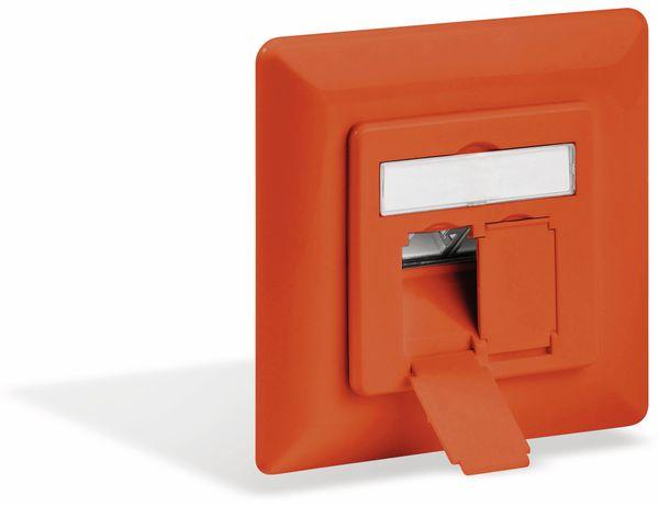 CAT.6a Datendose GOOBAY, 2-fach, UP, orange - Produktbild 1