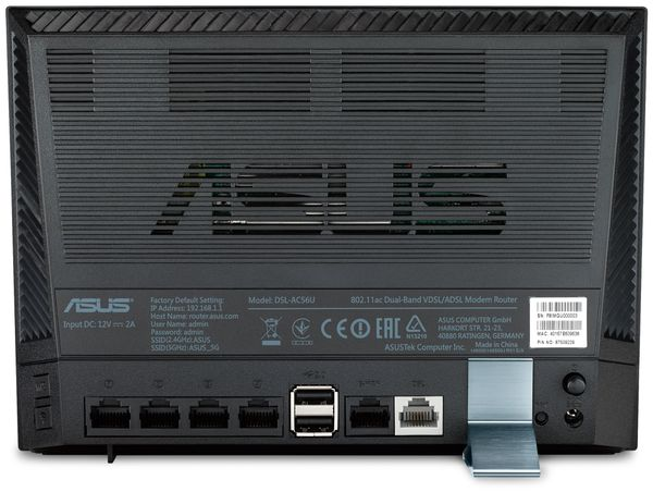 WLAN-Router ASUS DSL-AC56U, ADSL/VDSL, Dual-Band - Produktbild 6