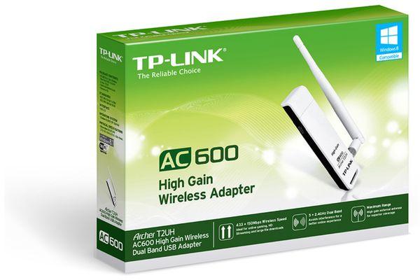 USB-Netzwerkadapter TP-LINK Archer T2UH, 2,4/5 GHz, 583 MBit/s, USB 2.0 - Produktbild 2