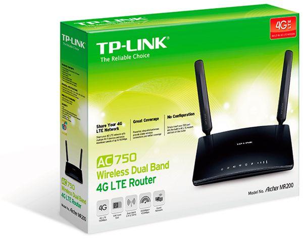 WLAN-Router TP-LINK Archer MR200, 3G/4G, 4x RJ-45 - Produktbild 3