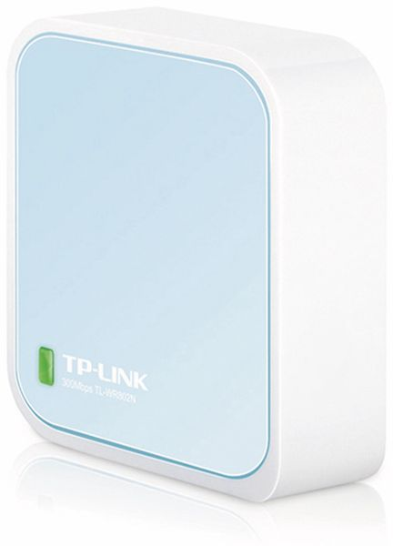 WLAN-Router TP-LINK TL-WR802N, 2,4 GHz, 300 MBit/s