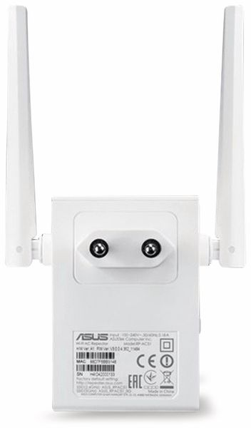 WLAN-Repeater ASUS RP-AC51, Dual-Band, 750 MBit/s - Produktbild 3