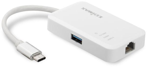 USB 3.0 Netzwerkadapter EDIMAX EU-4308, USB-C, 3-Port Hub - Produktbild 2