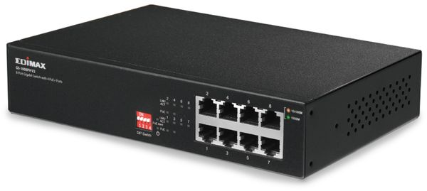 PoE Netzwerk-Switch EDIMAX GS-1008PL V2, Gigabit, 8-Port, 70 Watt - Produktbild 2