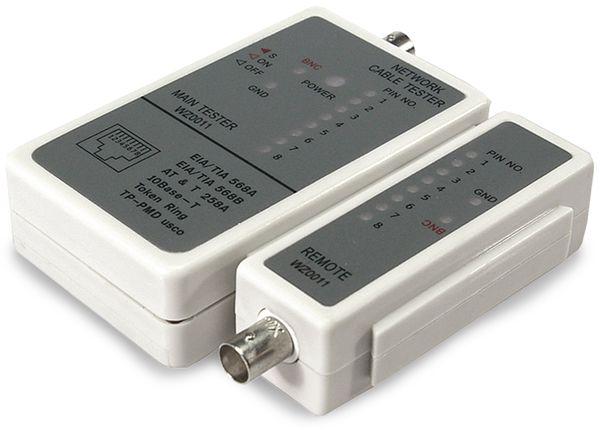 Netzwerk-Kabeltester LOGILINK WZ0011, RJ11/RJ12/RJ45/BNC